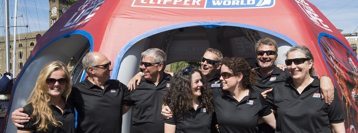 Clipper Race alumni crew arrive in London