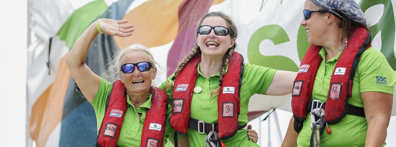 Female crew members on board Visit Seattle