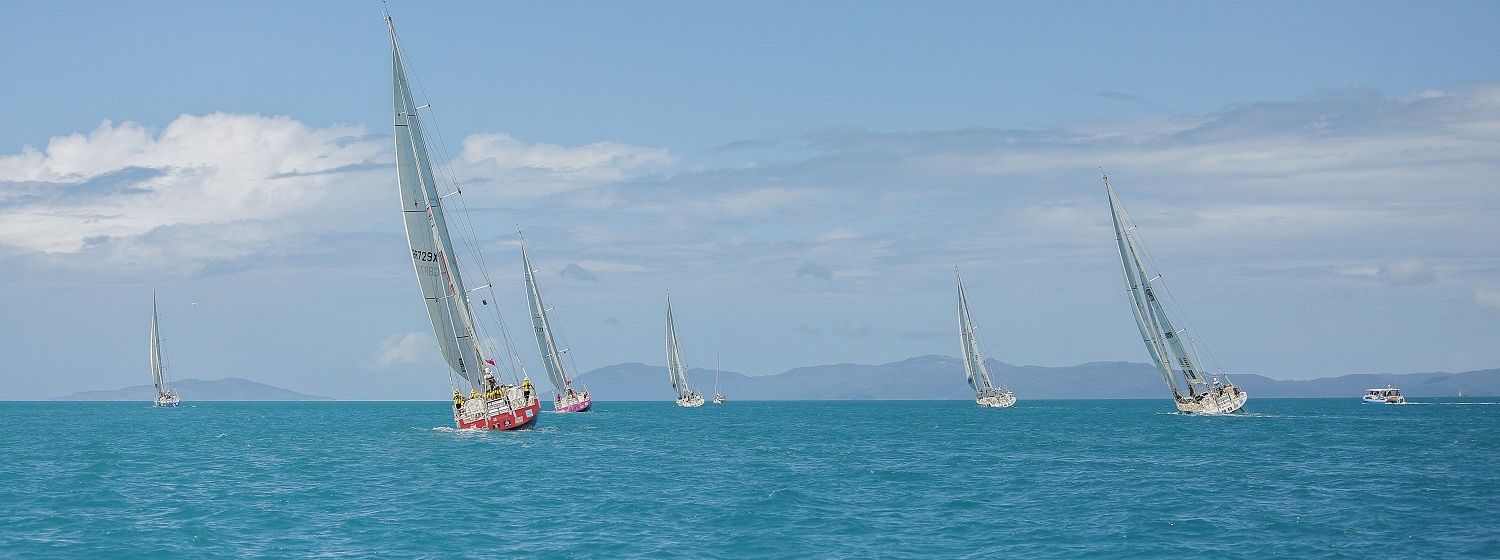 Fleet departing the Whitsundays