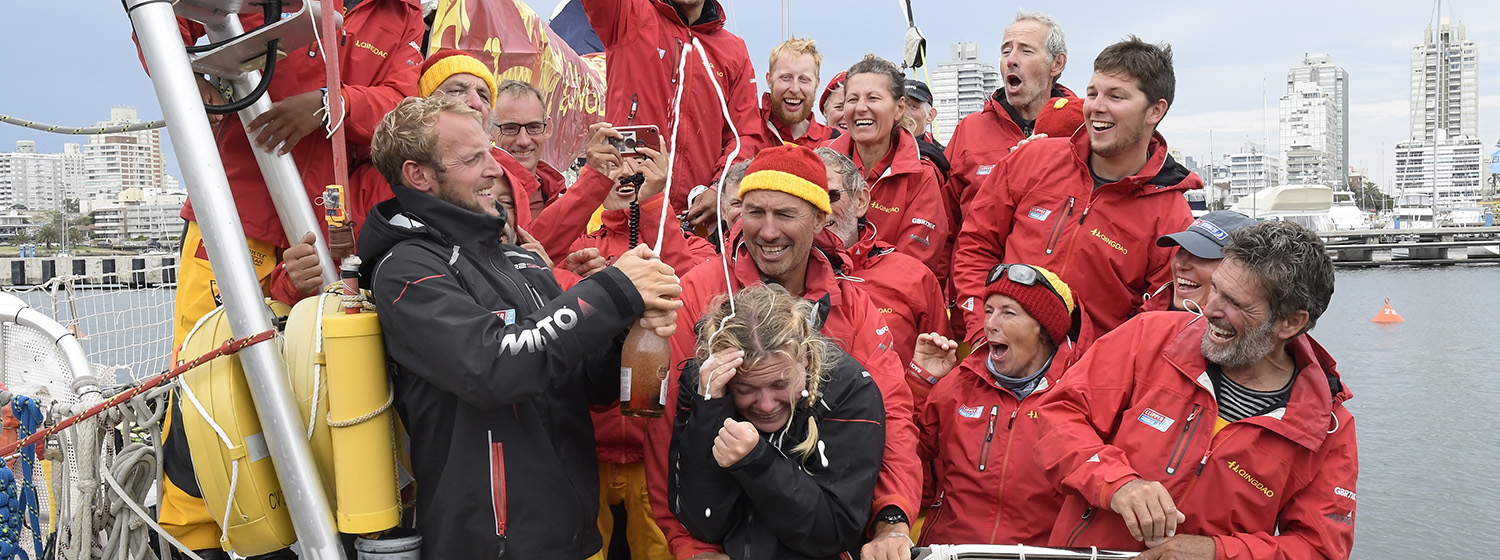 Qingdao team celebrates first win of Clipper 2019-20 Race