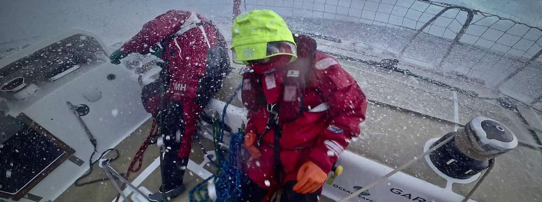 Wave crashed over deck of Sanya Serenity Coast - Credit Minghao