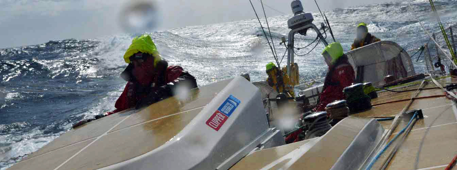 Qingdao on Day 25 of Race 9 across the North Pacific Ocean.