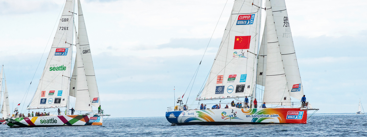 Sanya Serenity Coast and Visit Seattle at the start of Race 13.
