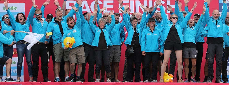 Nasdaq team at Race Finish