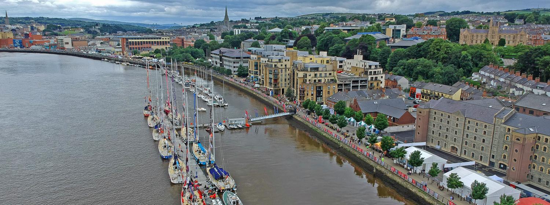 Clipper Race fleet in Derry-Londonderry