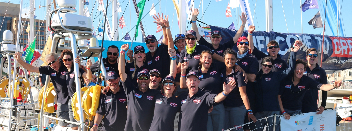 Teams celebrate Sydney Hobart completion