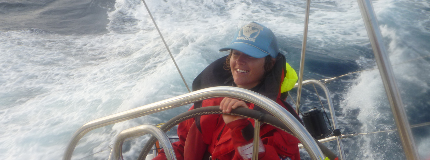 Lisa Blair during Clipper 2011-12 Race