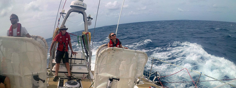 Mia on board Garmin during the Wondrous Whitsundays Race 6