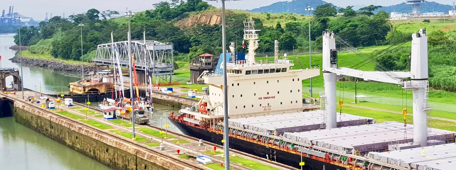 Clipper Race teams transiting the Panama Canal