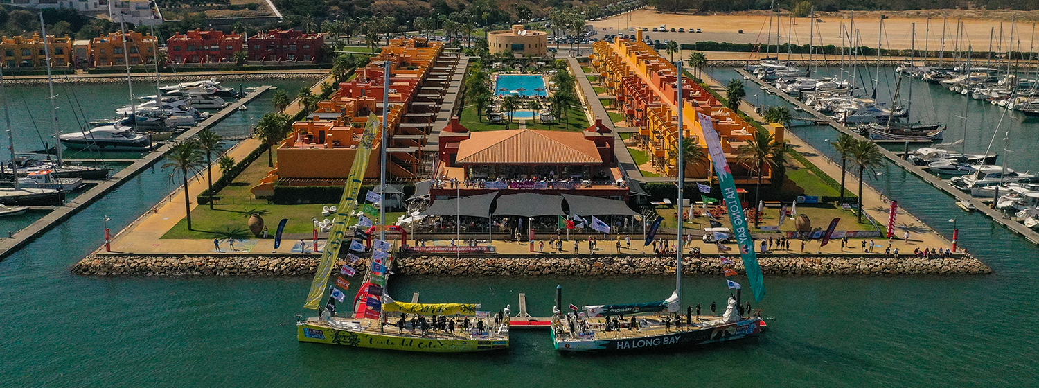 Clipper Race fleet in Marina de Portimao