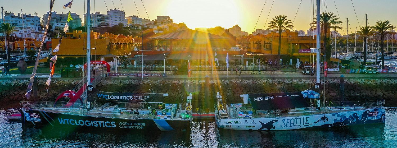 Clipper 2019-20 Race fleet at the Marina de Portimão. © Rodrigo Moreira Rato/LX Sailing