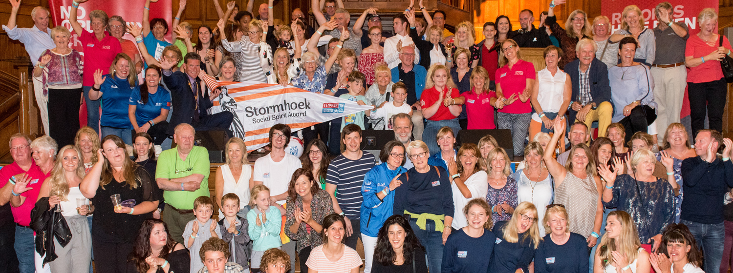 Race Crew Supporters awarded Stormhoek Social Spirit Award. Copyright Martin McKeown