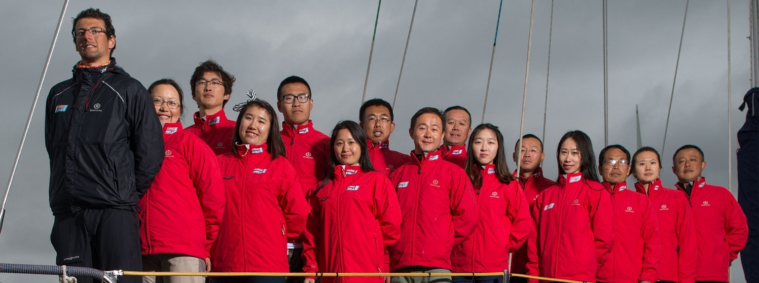 ​Largest ever group of Chinese crew in UK for training with their skipper Igor Gotlibovych