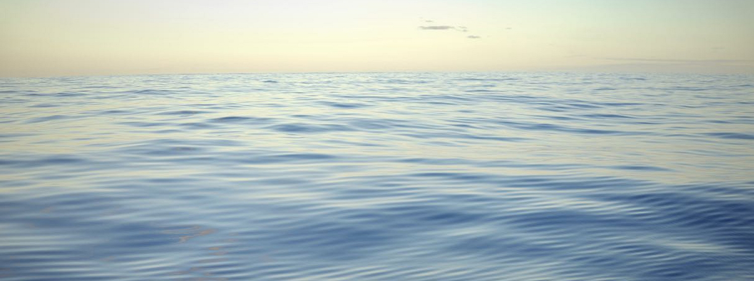 Image of calm seas during wind hole