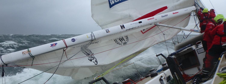 Qingdao storm sail change