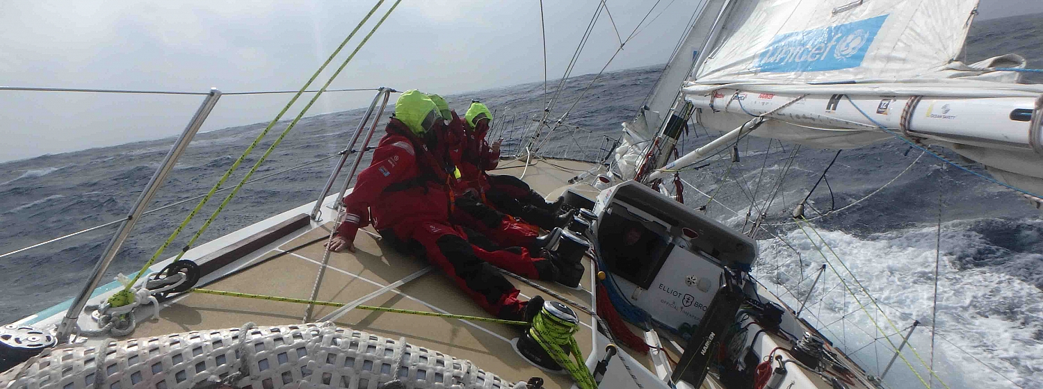 ​Race 8 Day 12 Icy conditions as remaining teams beat upwind to Qingdao Race Finish