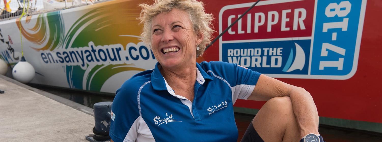 Sanya Serenity Coast Skipper Wendy Tuck during the Clipper 2017-18 Race